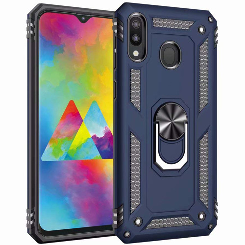Navy Slim Armor 360 Rotating Stand Metal  Case For Galaxy A20 / A30 - 1