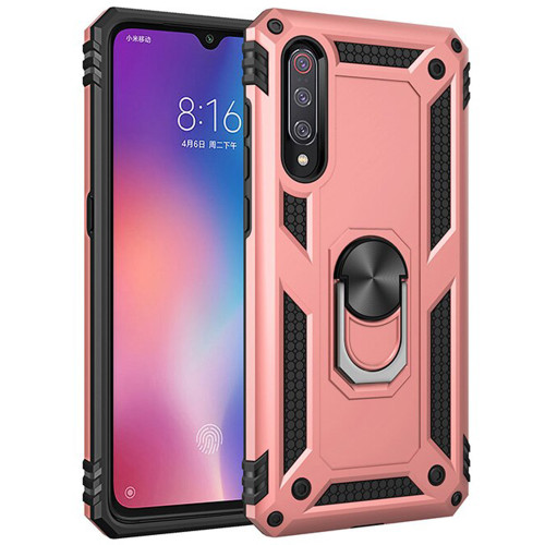 Rose Gold Galaxy A50  Slim Armor 360 Rotating Metal Ring Stand Case - 1