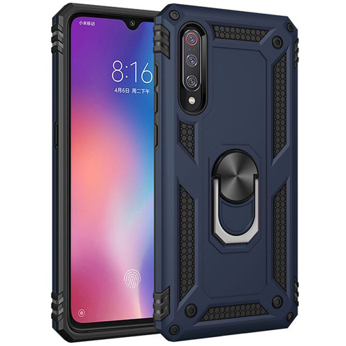 Navy 360 Rotating Metal Stand Heavy Duty Case For Galaxy A70 - 1