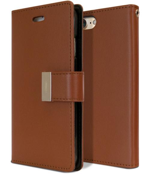 Vintage Brown iPhone 6 / 6S Genuine Mercury Rich Diary Wallet Case - 1