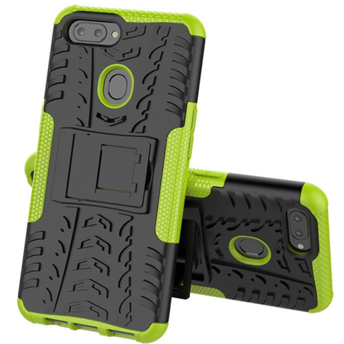 Oppo AX7 Hybrid Kickstand Heavy Duty Tradies Case - Green
