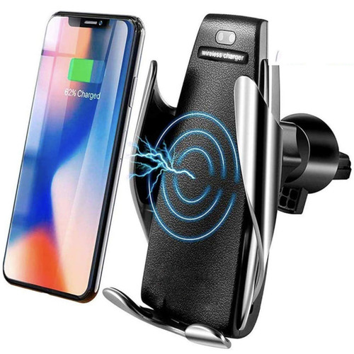 Automatic Clamping Qi Wireless Car Charger Mount Holder - 1