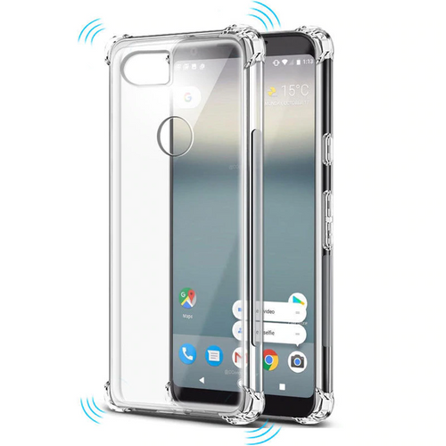 Clear Google Pixel 3a Flexible Shock Proof Bumper Case Cover - 1