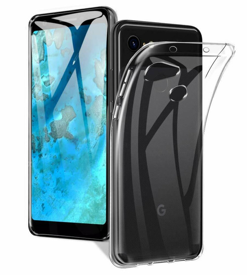 Ultra Slim Clear Google Pixel 3a Flexible TPU Gel Case Cover - 1