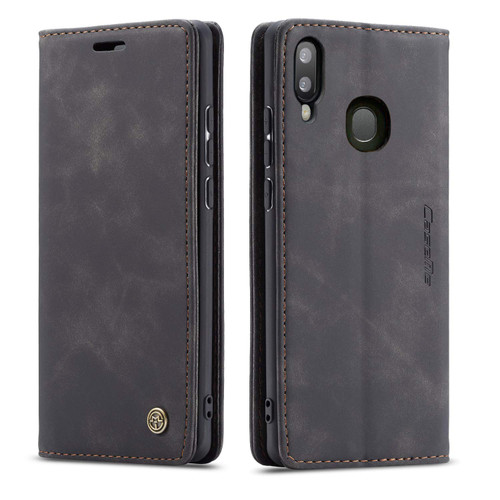 Black CaseMe Compact Flip Exceptional Wallet Case For Galaxy A20 / A30 - 1