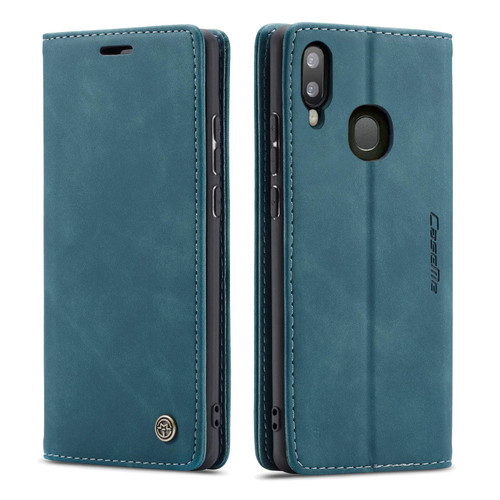 Blue CaseMe Slim Magnetic Quality Wallet Case For Galaxy A20 / A30 - 1