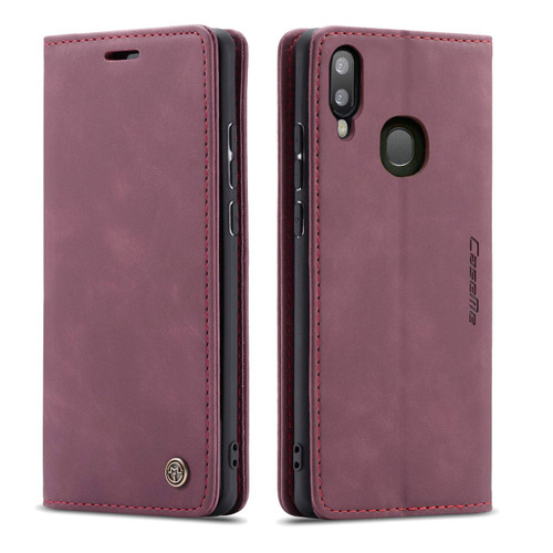 Wine CaseMe Compact Flip Premium Wallet Case For Galaxy A20 / A30 - 1