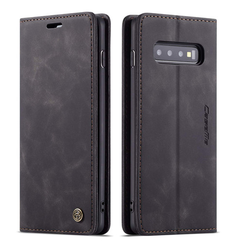 Black CaseMe Slim Magnetic Premium Wallet Case For Galaxy S10 - 1