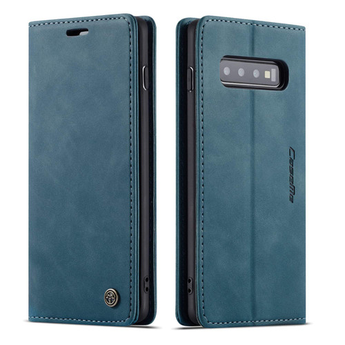 Blue CaseMe Slim 2 Card Slot Quality Wallet Case For Galaxy S10 + Plus - 1