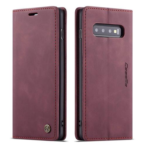 Wine CaseMe Soft Matte Premium Wallet Case For Galaxy S10 + Plus - 1