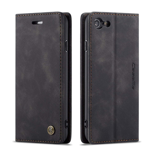 Premium iPhone 7 / 8 CaseMe Soft Matte Wallet Case - Black - 1