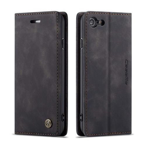 Premium iPhone 7 / 8 CaseMe Soft Matte Wallet Case - Black - 1