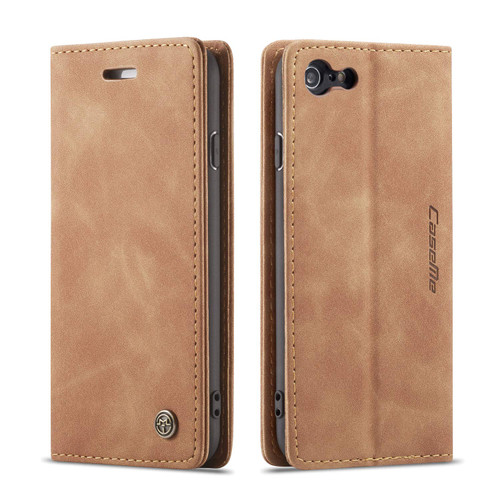 Premium iPhone 7 / 8 CaseMe Slim 2 Card Slot Wallet Case - Brown - 1