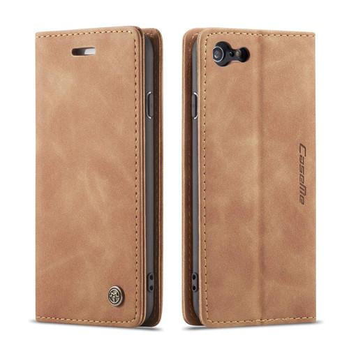 Premium iPhone 7 / 8 CaseMe Slim 2 Card Slot Wallet Case - Brown - 1
