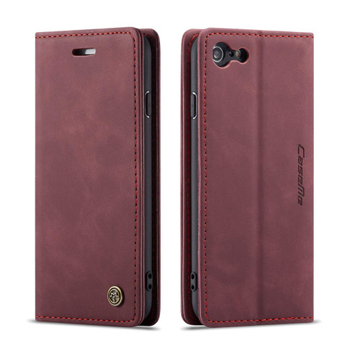 Elegant iPhone 7 / 8 CaseMe Soft Matte Wallet Case - Wine - 1