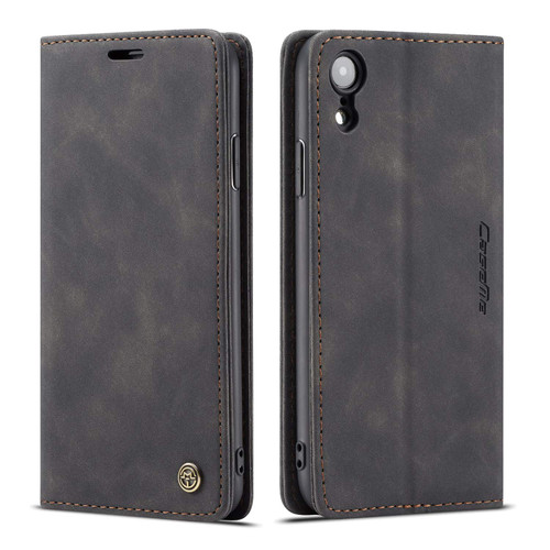 Elegant iPhone XR CaseMe Compact Flip Wallet Case - Black - 1
