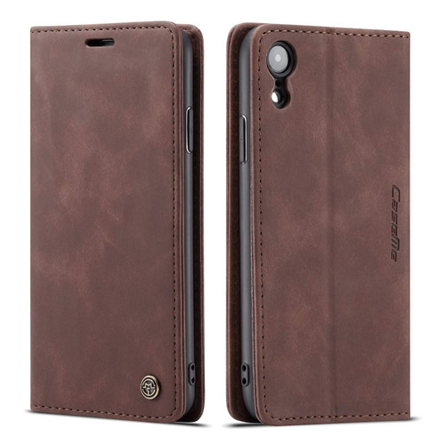 Coffee CaseMe Compact Flip Quality Wallet Case For iPhone XR - 1