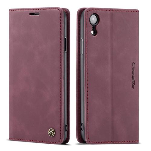Premium iPhone XS CaseMe Soft Matte Wallet Case - Wine - 1