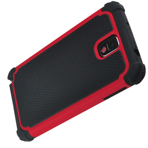 Red Samsung Galaxy Note 3 Heavy Duty Defender Case - 1