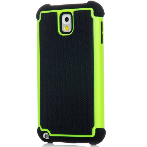 Green Samsung Galaxy Note 3 Heavy Duty Defender Case - 1