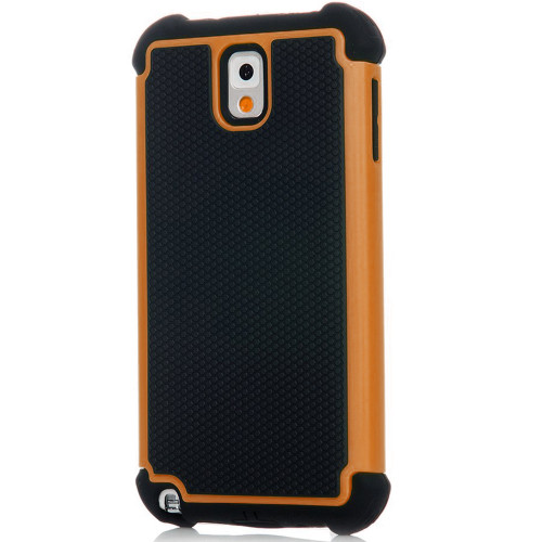 Orange Samsung Galaxy Note 3 Heavy Duty Defender Case - 1