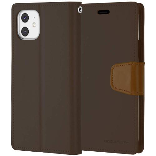 Vintage Brown iPhone 11 Pro Genuine Mercury Sonata Diary Wallet Case - 1