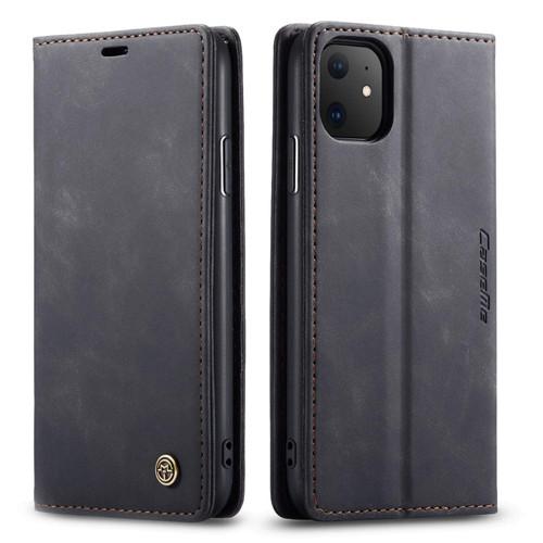 Business iPhone 11 CaseMe Slim 2 Card Slot Wallet Case - Black - 1