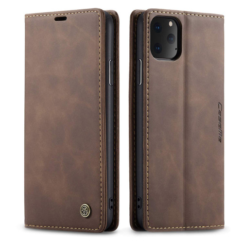 Elegant CaseMe Slim Soft Wallet Case Cover iPhone 11 - Coffee - 1