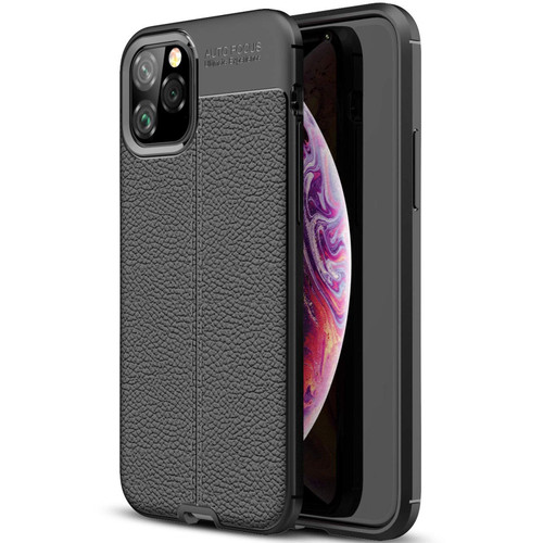 Black iPhone 11 Pro Ultra Slim Carbon Fibre Leather Texture Case - 1