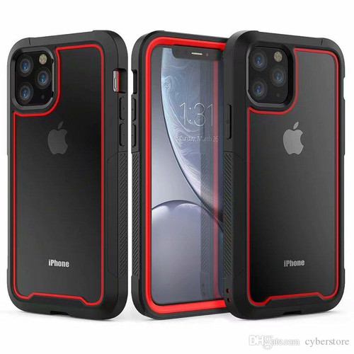 Red Military Armor Heavy Duty Triple Layer Case For iPhone 11 - 1