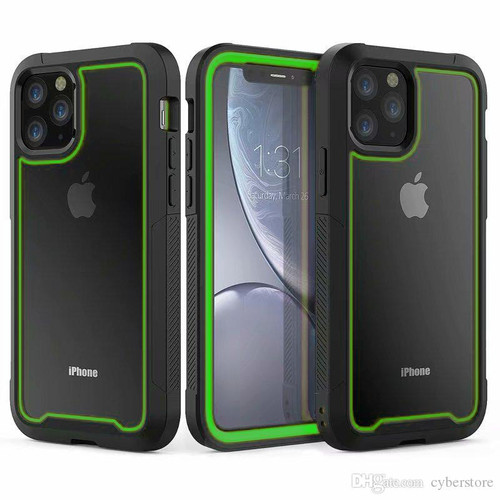Green Tough Military Shock Proof Armor Case For iPhone 11 Pro - 1