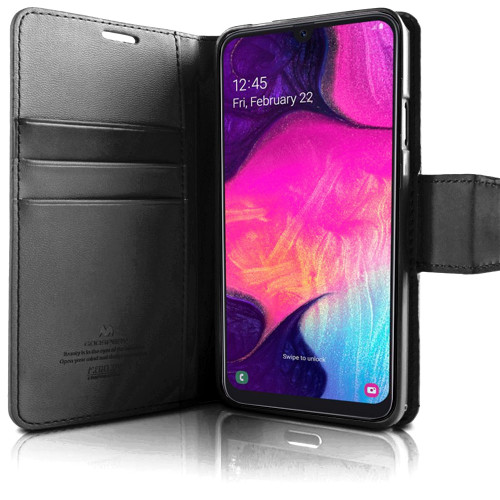 Premium Galaxy A50 Genuine Mercury Sonata Diary Wallet Case - 1