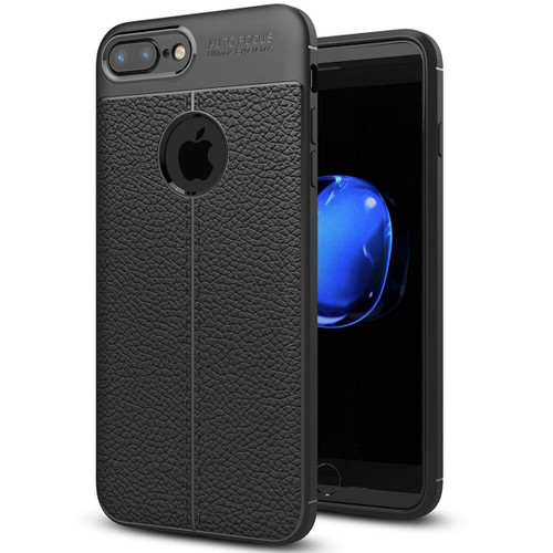 Black Ultra Slim Carbon Fibre Leather Texture Case For iPhone 7 / 8 - 1