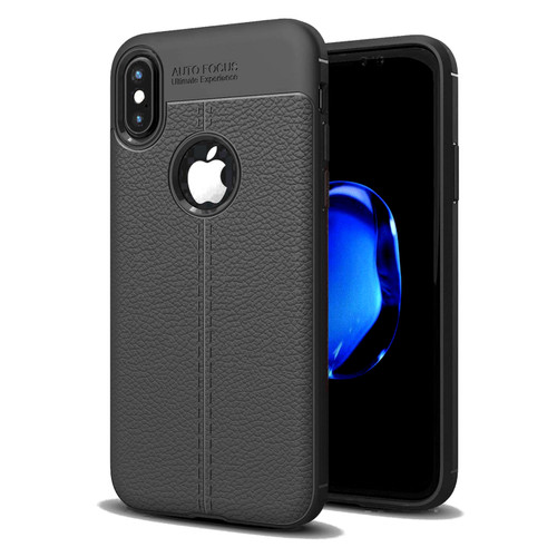 Black Ultra Slim Carbon Fibre Leather Texture Case For iPhone XR - 1