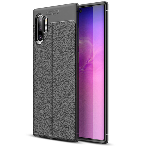 Black Ultra Slim Carbon Fibre Leather Texture Case For Galaxy Note 10+ - 1