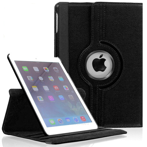 "Black iPad 2017 9.7"" 360 Degree Magnetic Rotating Synthetic Leather Case  - 2"