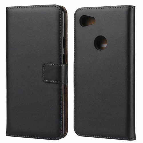 Genuine Leather Business Wallet Case Cover For Google Pixel 3a - 1