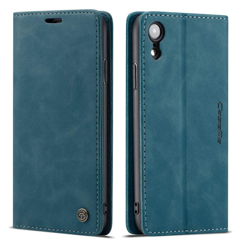 Blue CaseMe Slim Magnetic Premium Wallet Case For iPhone XR - 1