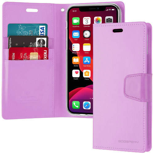 Stylish Purple iPhone 11 Pro Genuine Mercury Sonata Diary Wallet Case - 1