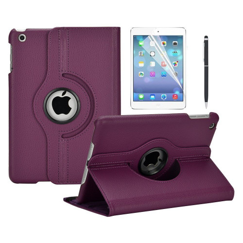 "Purple 360 Degree Slim Rotating Stand Case For iPad 9.7"" (2017)  - 1"