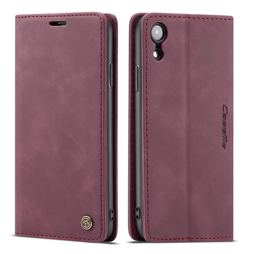 Exceptional iPhone XS Max CaseMe Slim 2 Card Slot Wallet Case - Wine - 1