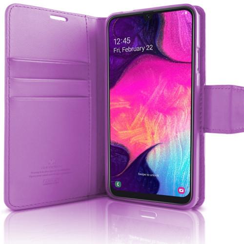Purple Galaxy A20 Genuine Mercury Sonata Diary Wallet Case Cover - 1