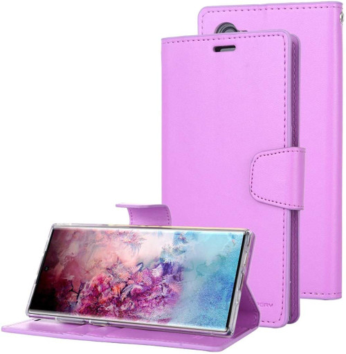 Purple Mercury Sonata Diary Card Slots Wallet Case For Galaxy Note 10 - 1