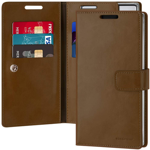 Dark Brown Mercury Mansoor Diary Wallet Card Case for Galaxy Note 10 - 1