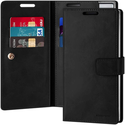 Mercury Mansoor Diary Wallet Case For Galaxy Note 10+ / 10+ 5G - Black - 1