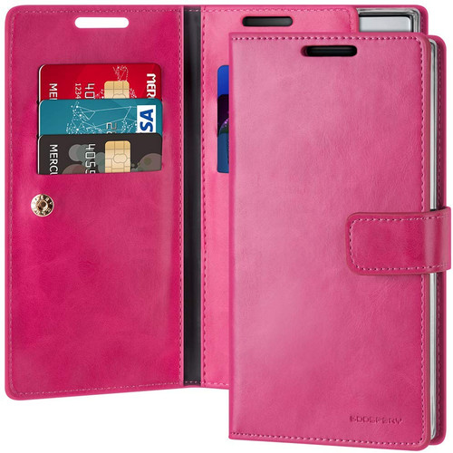 Hot Pink Mercury Mansoor Diary Wallet Case For Galaxy Note 10+ - 1