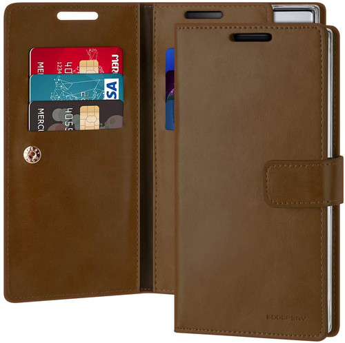 Dark Brown Mercury Mansoor Diary Wallet Case For Galaxy Note 10+ - 1