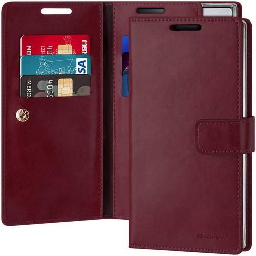 Classy Wine Galaxy Note 10+ Mercury Mansoor Diary Wallet Case - 1
