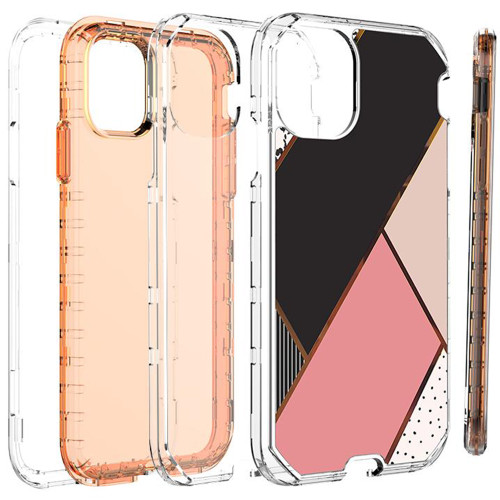 Stylish iPhone 11 Geometric Shapes 3 in 1 Heavy Duty Defender Case