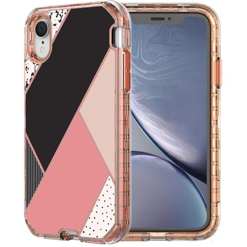 Stylish Geometric Shapes Heavy Duty Defender Case For iPhone XR